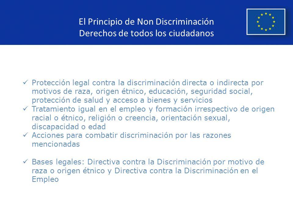 El Principio de Non Discriminación Derechos de todos los ciudadanos