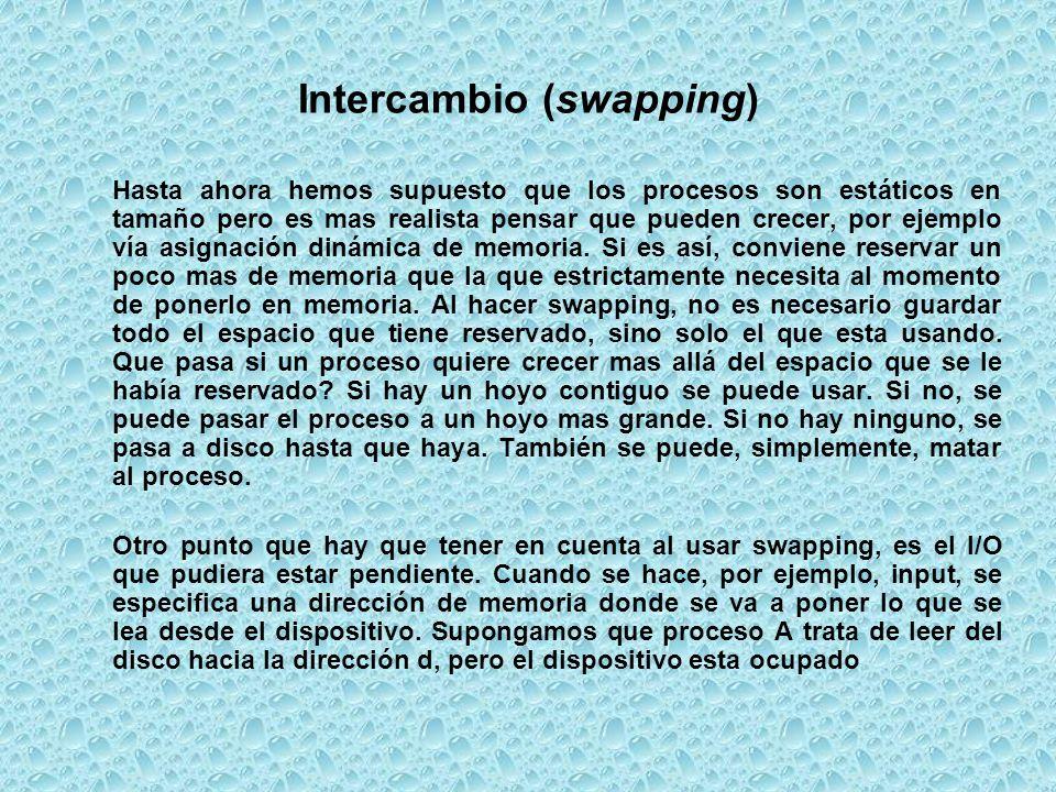 Intercambio (swapping)