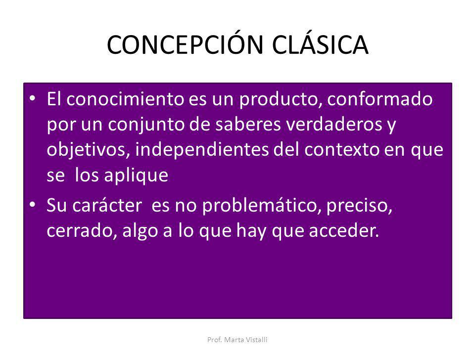 CONCEPCIÓN CLÁSICA