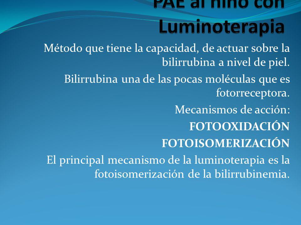 PAE al niño con Luminoterapia