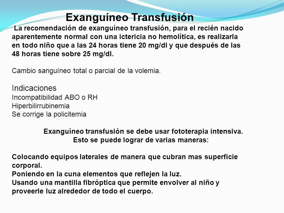 Exanguíneo Transfusión