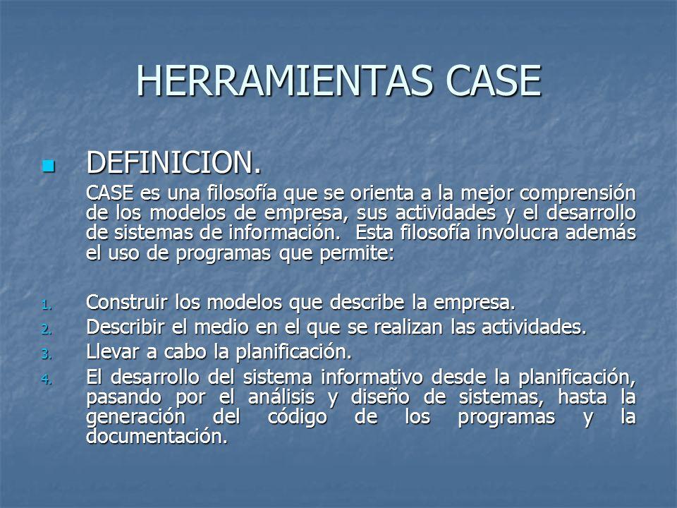 HERRAMIENTAS CASE DEFINICION.