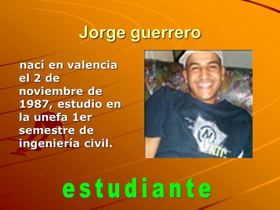 Jorge guerrero estudiante