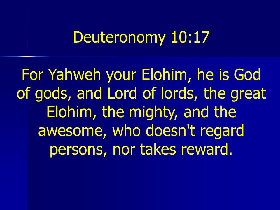 Deuteronomy 10:17