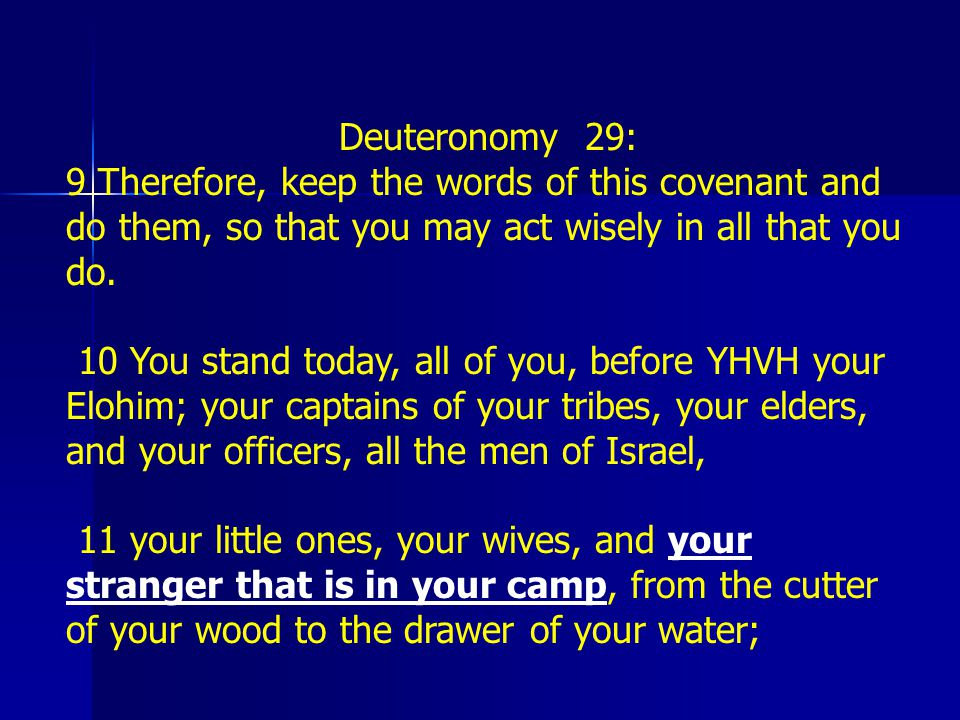 Deuteronomy 29: 9 Therefore, keep the words of this covenant and do them, so that you may act wisely in all that you do.