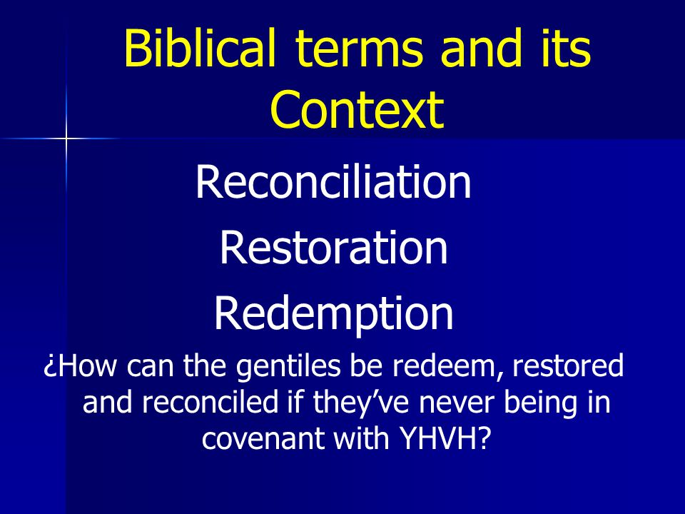 Biblical terms and its Context