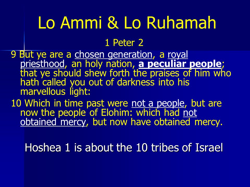 Hoshea 1 is about the 10 tribes of Israel