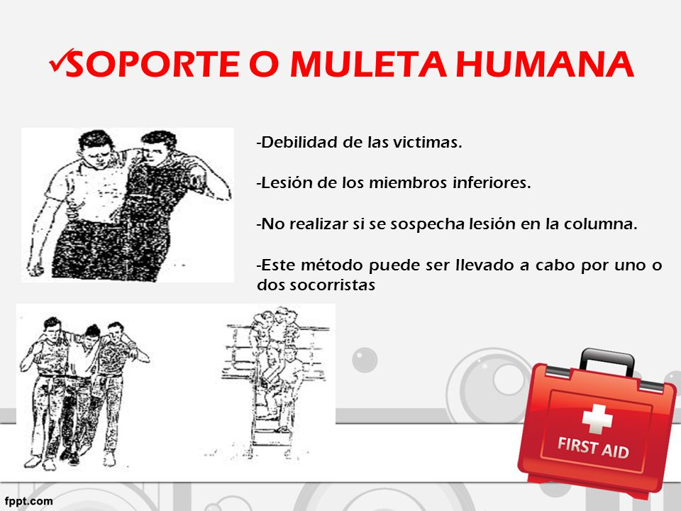 SOPORTE O MULETA HUMANA