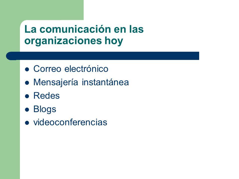 La comunicación en las organizaciones hoy