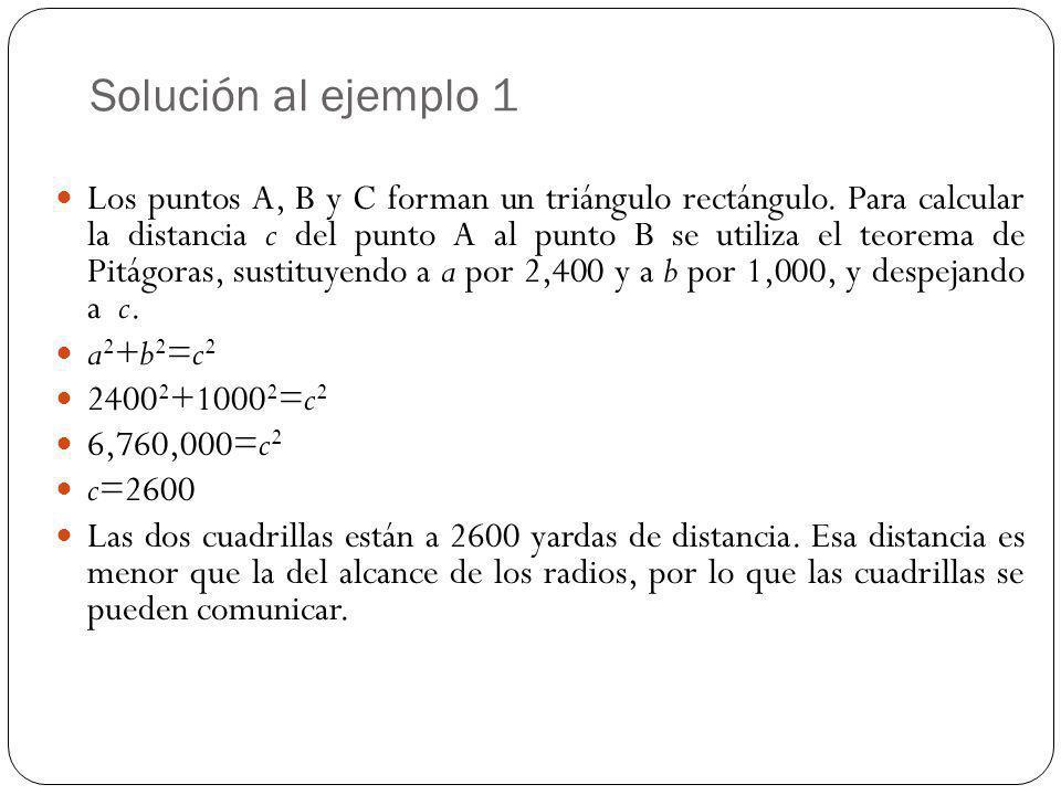 Solución al ejemplo 1