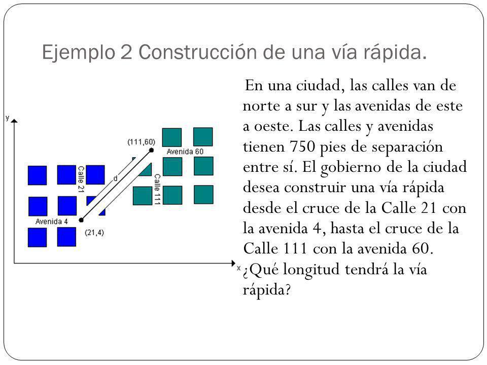 Ejemplo 2 Construcción de una vía rápida.