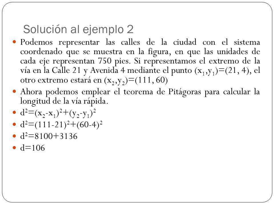 Solución al ejemplo 2