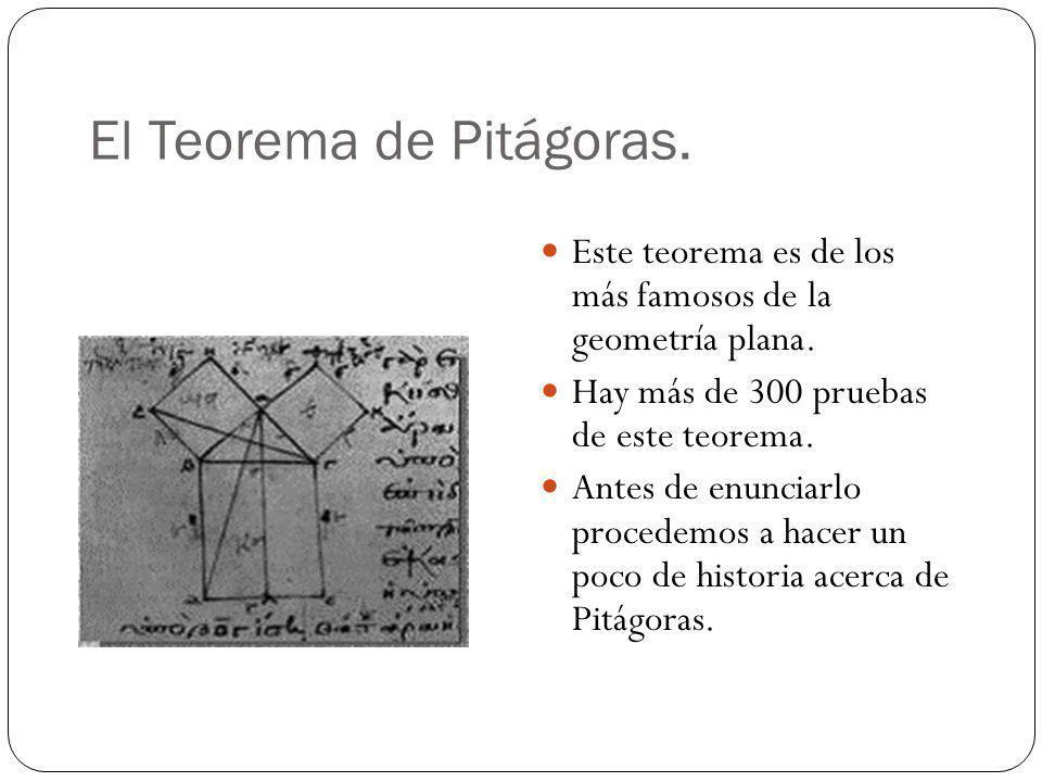 El Teorema de Pitágoras.