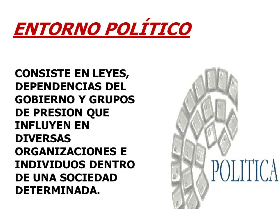 ENTORNO POLÍTICO