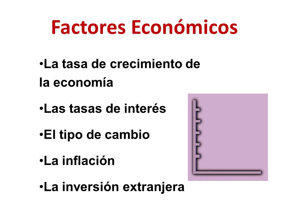 Factores Económicos La tasa de crecimiento de la economía