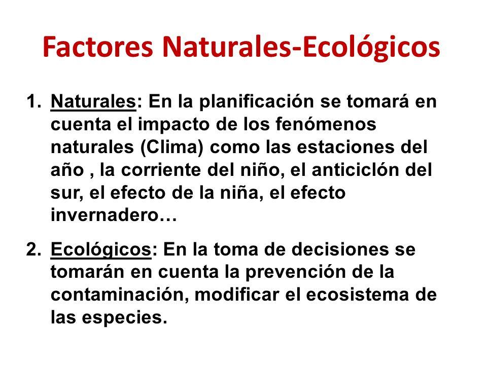 Factores Naturales-Ecológicos