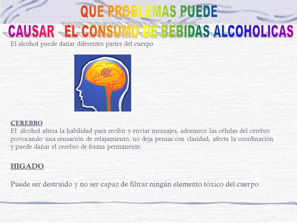 CAUSAR EL CONSUMO DE BEBIDAS ALCOHOLICAS