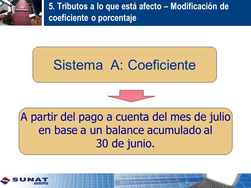 Sistema A: Coeficiente