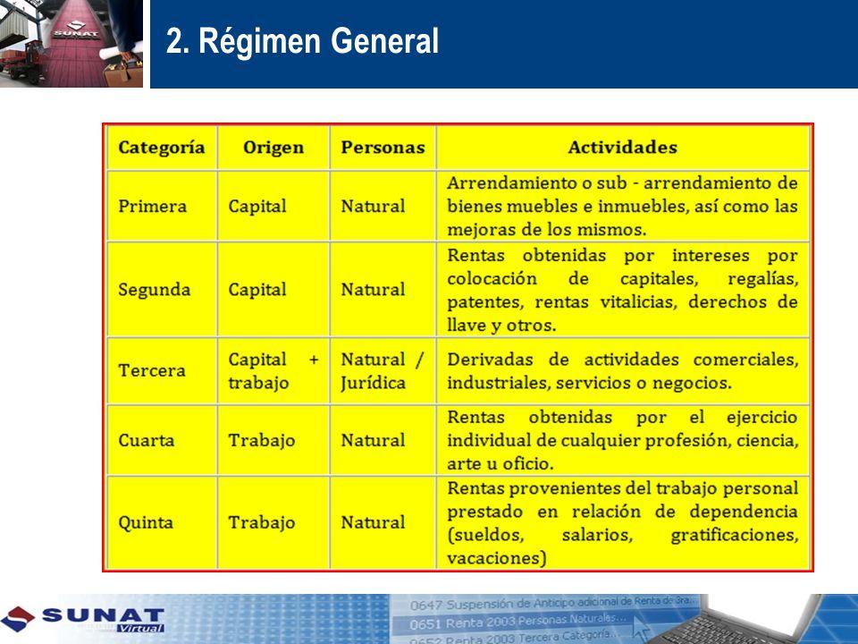 2. Régimen General