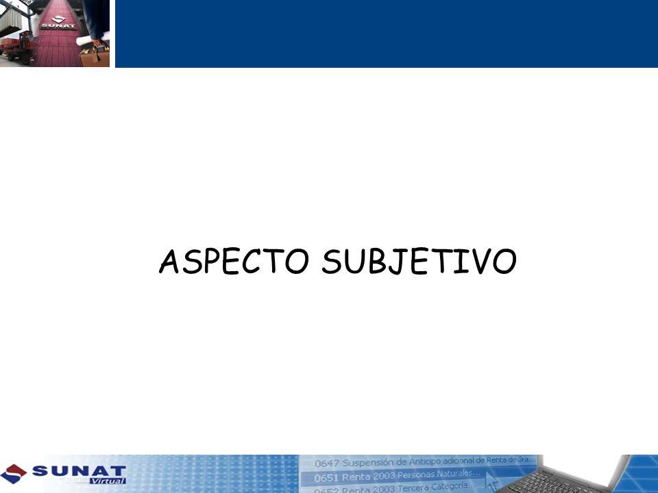 ASPECTO SUBJETIVO