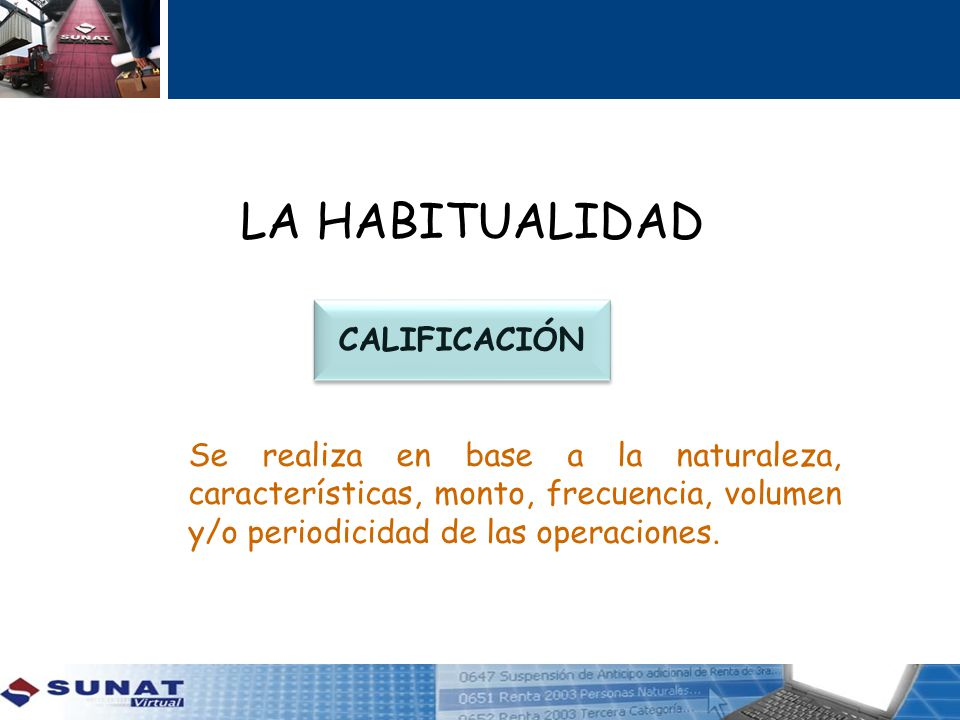 LA HABITUALIDAD CALIFICACIÓN
