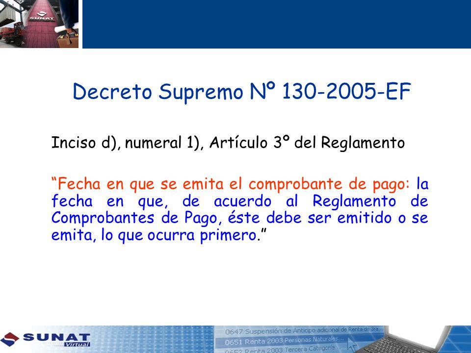 Decreto Supremo Nº 130-2005-EF