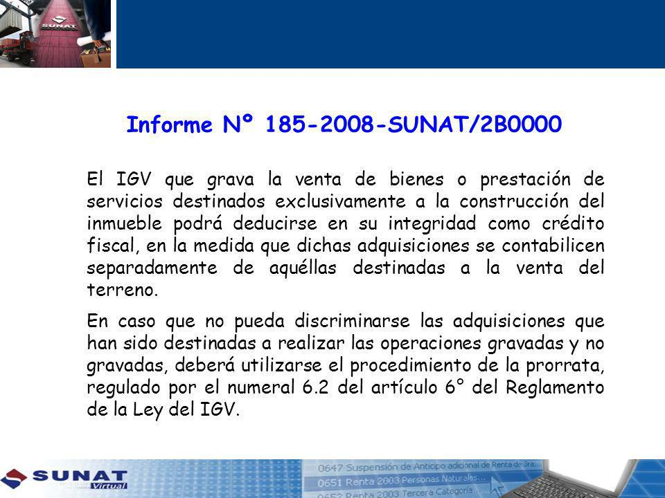 Informe Nº 185-2008-SUNAT/2B0000