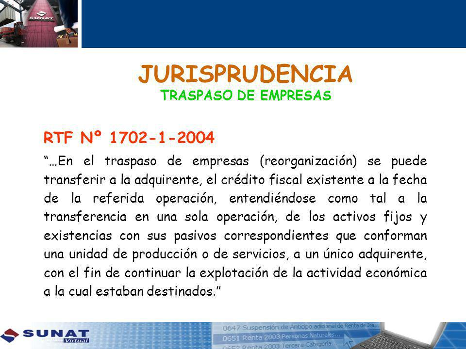 JURISPRUDENCIA TRASPASO DE EMPRESAS