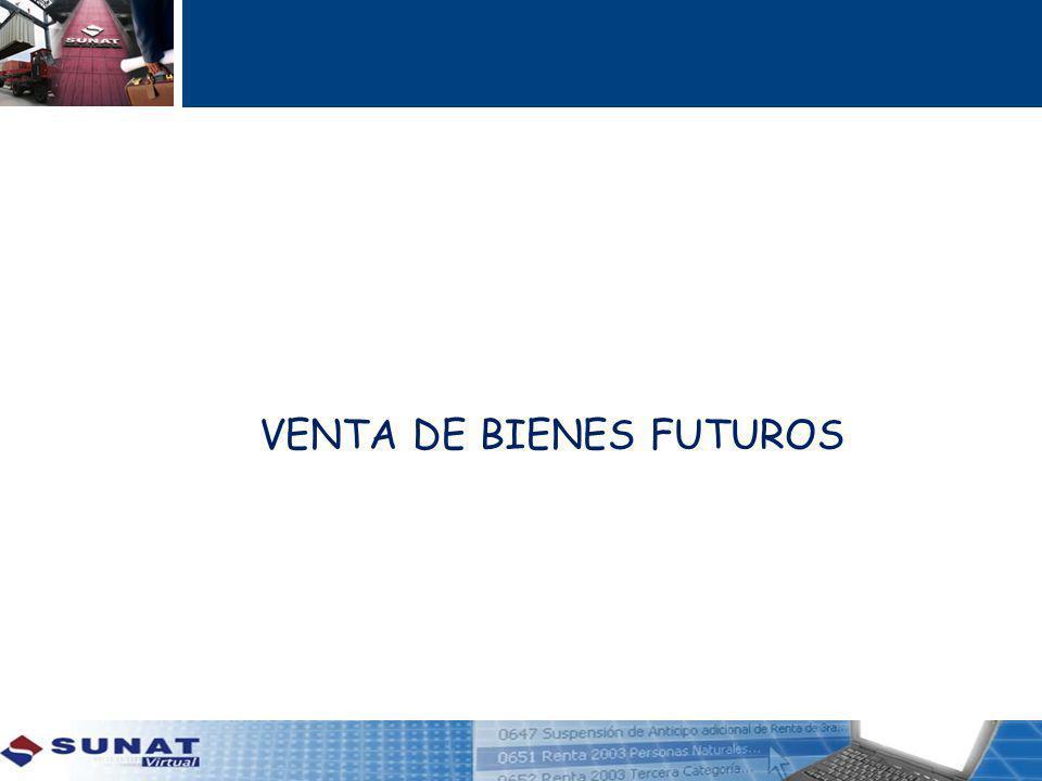 VENTA DE BIENES FUTUROS