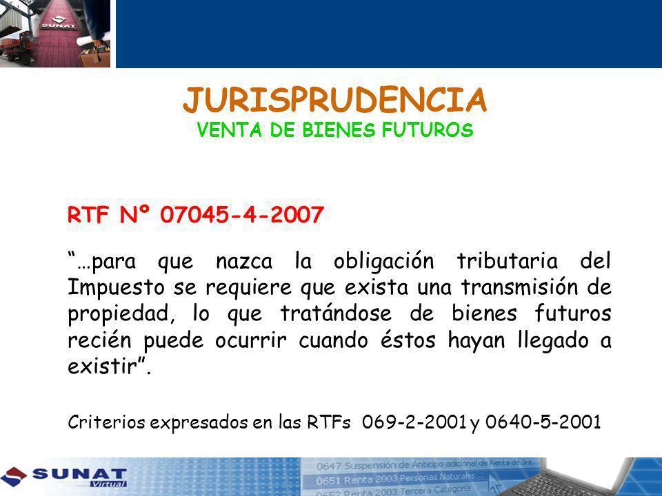 JURISPRUDENCIA VENTA DE BIENES FUTUROS