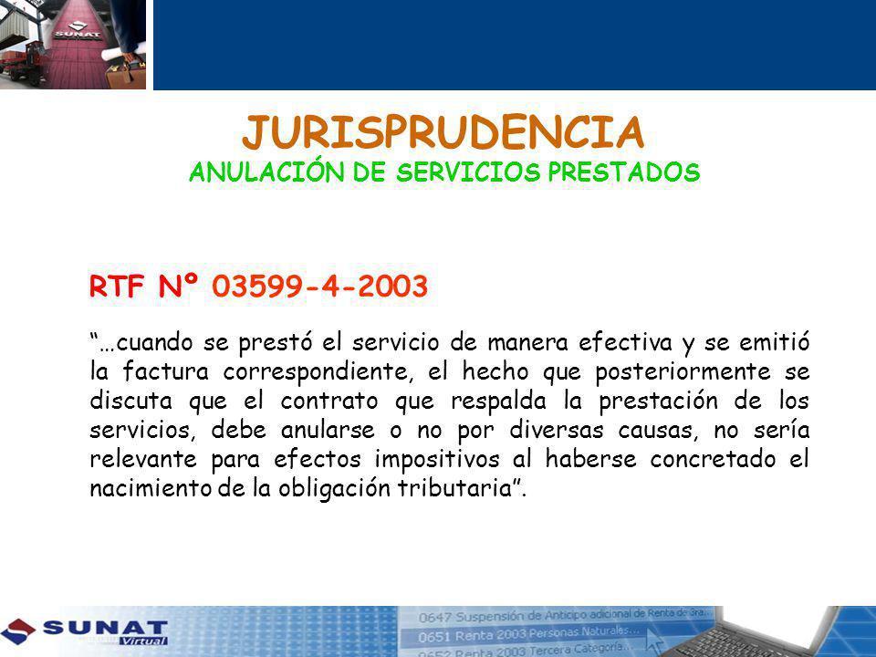 JURISPRUDENCIA ANULACIÓN DE SERVICIOS PRESTADOS