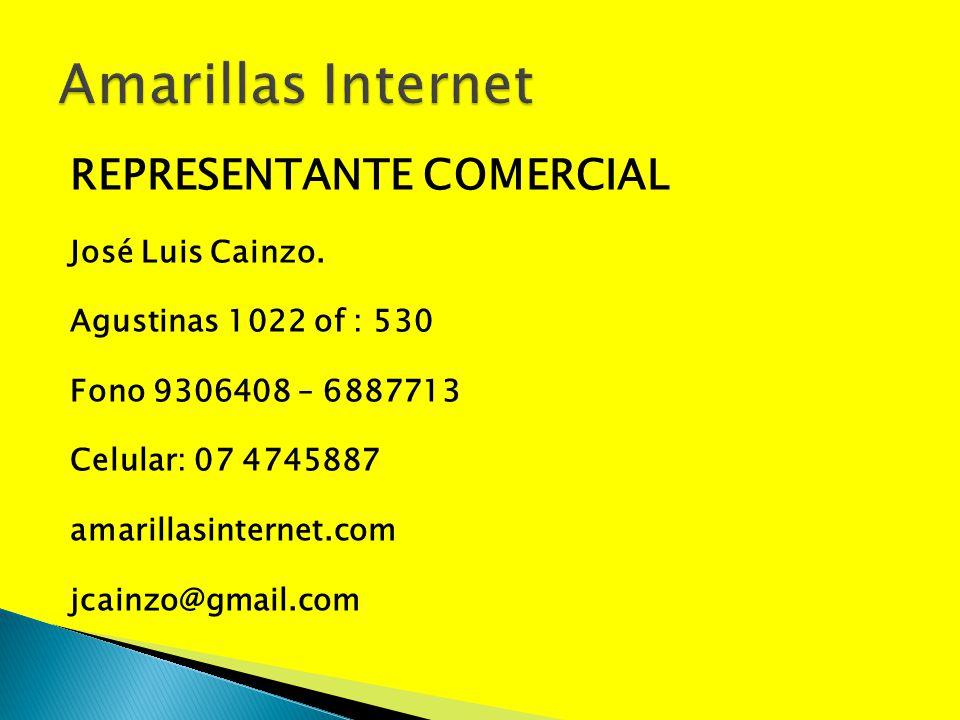 Amarillas Internet REPRESENTANTE COMERCIAL José Luis Cainzo.