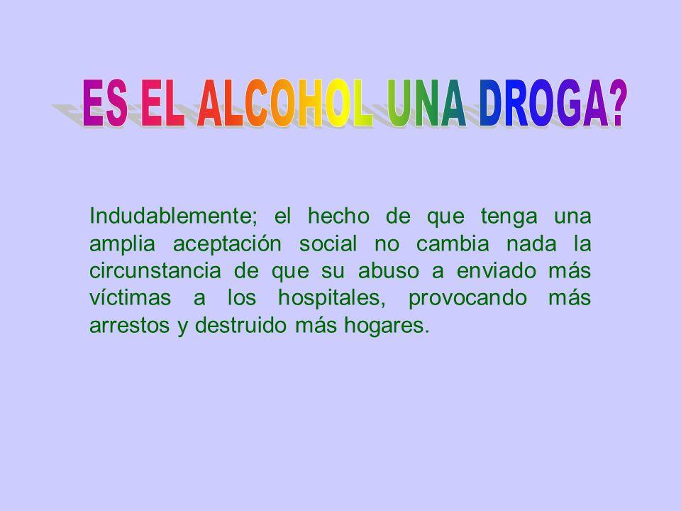 ES EL ALCOHOL UNA DROGA