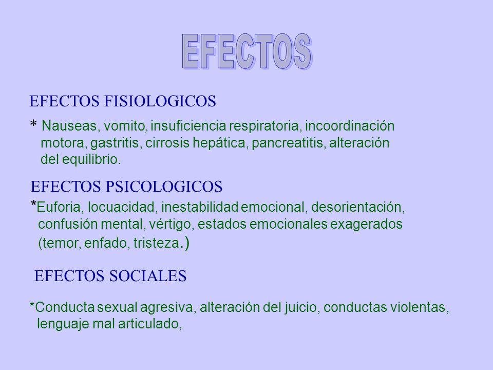 EFECTOS EFECTOS FISIOLOGICOS