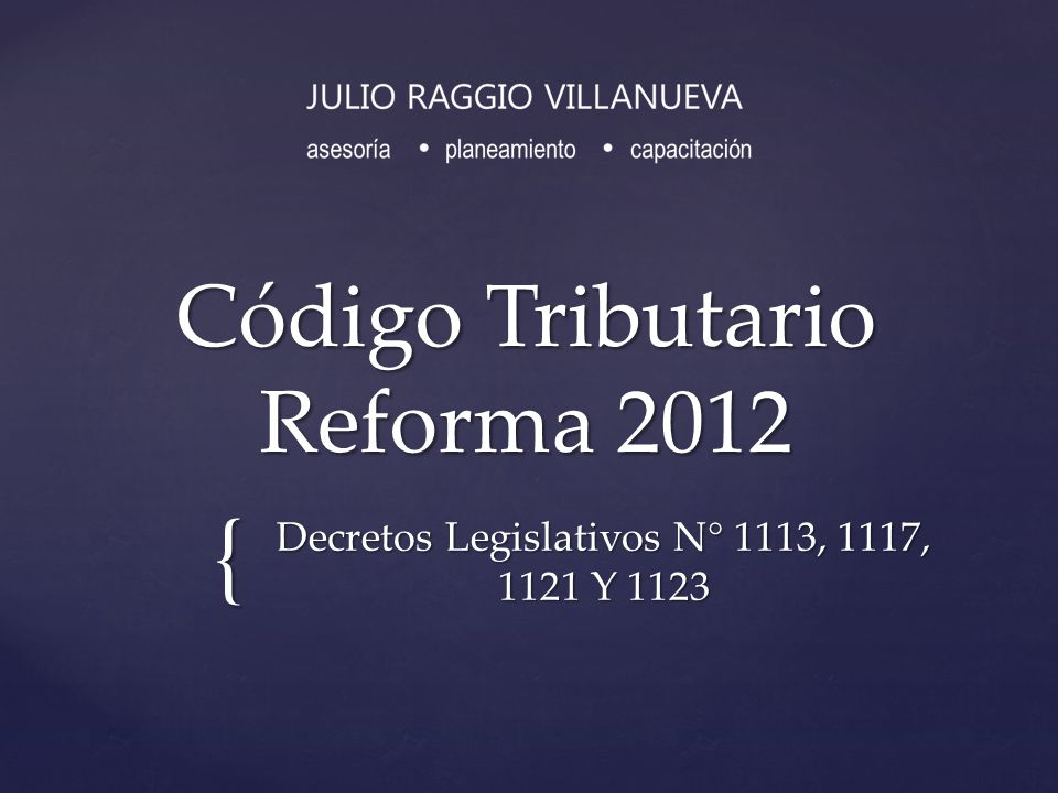 Código Tributario Reforma 2012