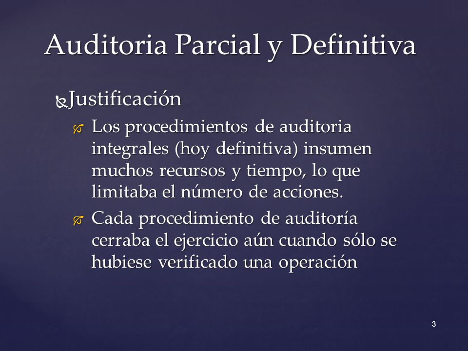 Auditoria Parcial y Definitiva