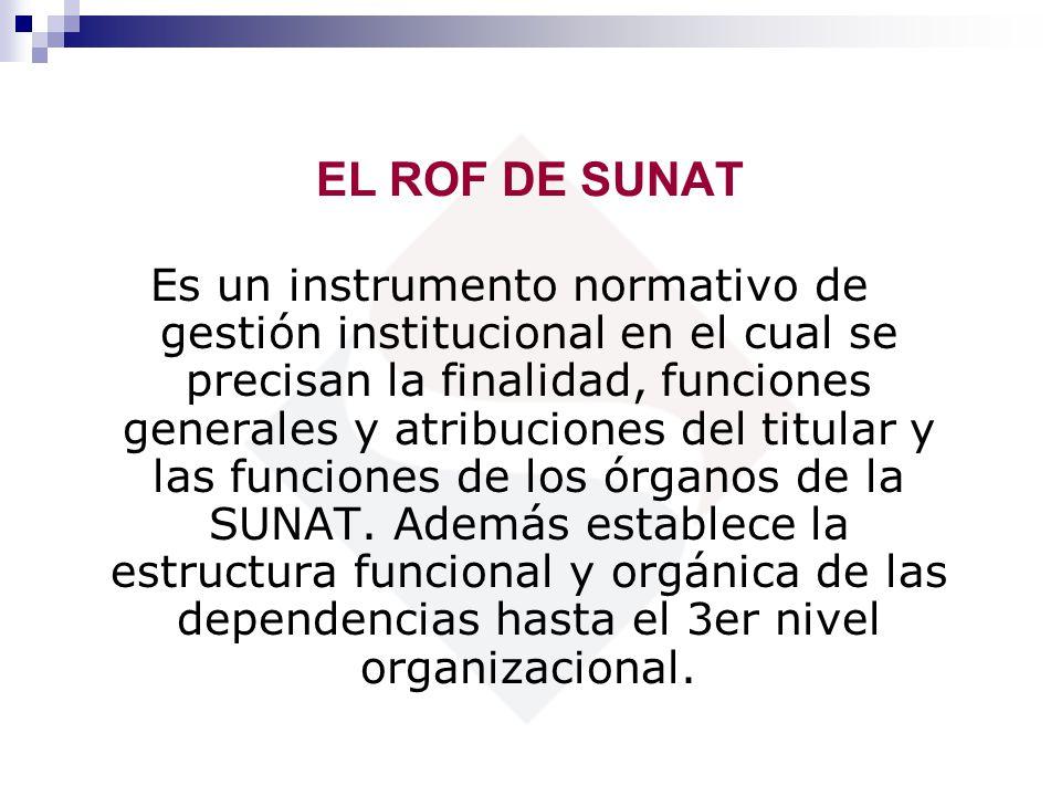 EL ROF DE SUNAT