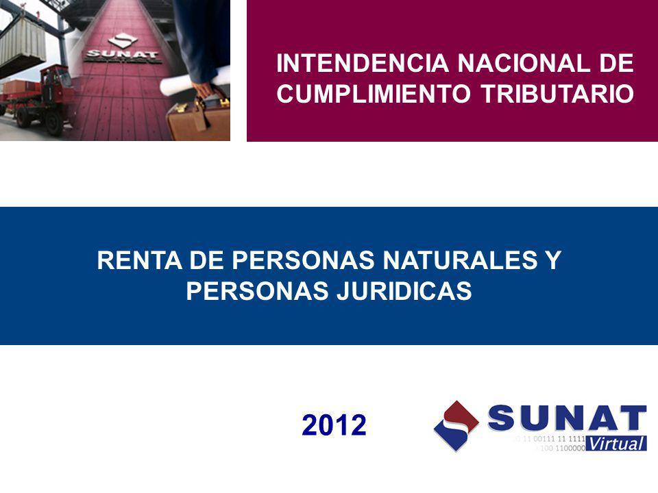 2012 INTENDENCIA NACIONAL DE CUMPLIMIENTO TRIBUTARIO