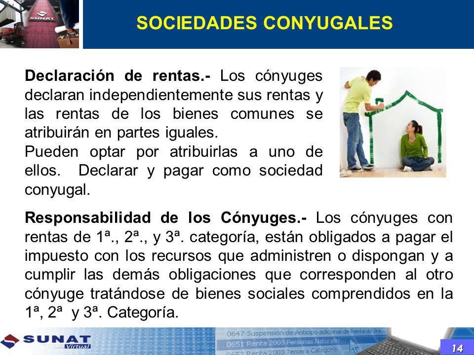 SOCIEDADES CONYUGALES