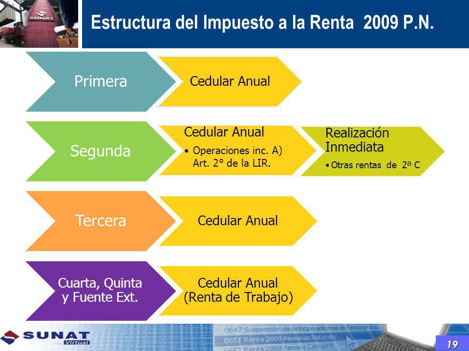 Estructura del Impuesto a la Renta 2009 P.N.