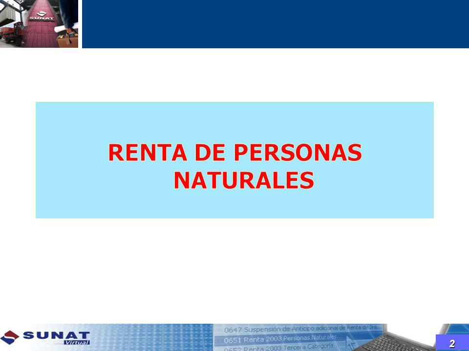 RENTA DE PERSONAS NATURALES