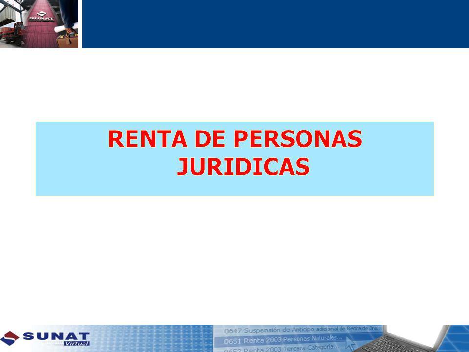 RENTA DE PERSONAS JURIDICAS
