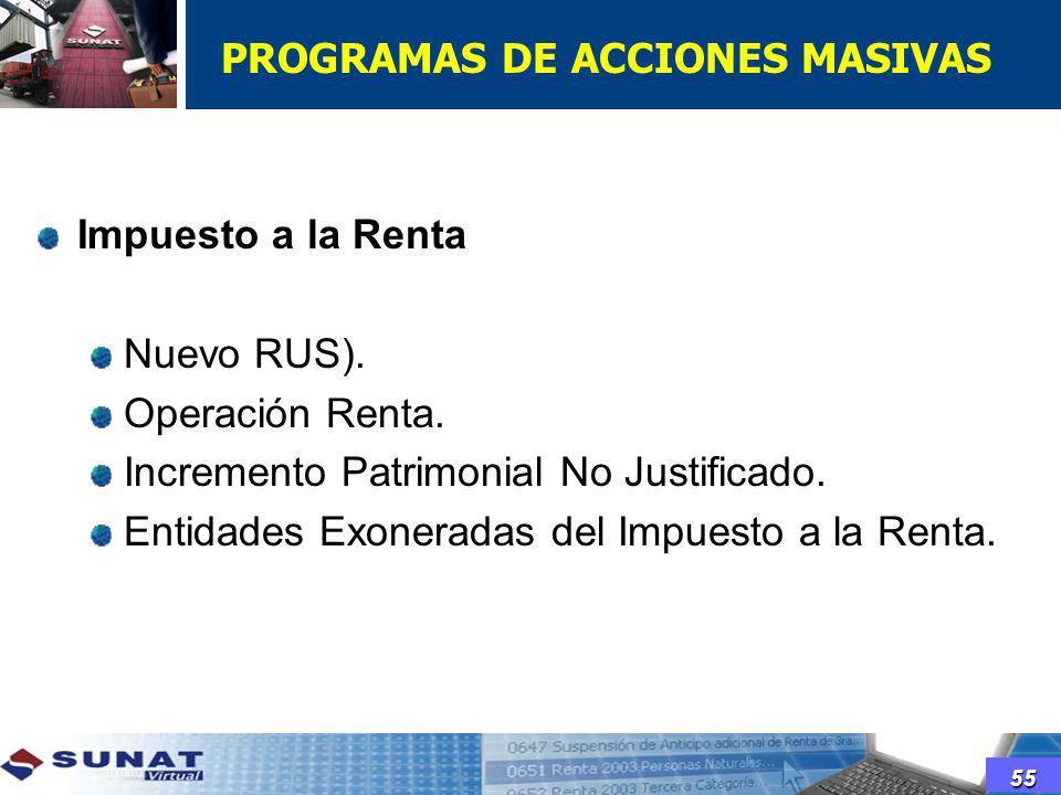 PROGRAMAS DE ACCIONES MASIVAS
