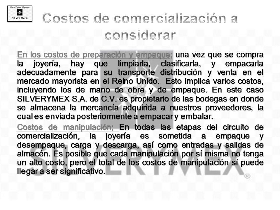 Costos de comercialización a considerar
