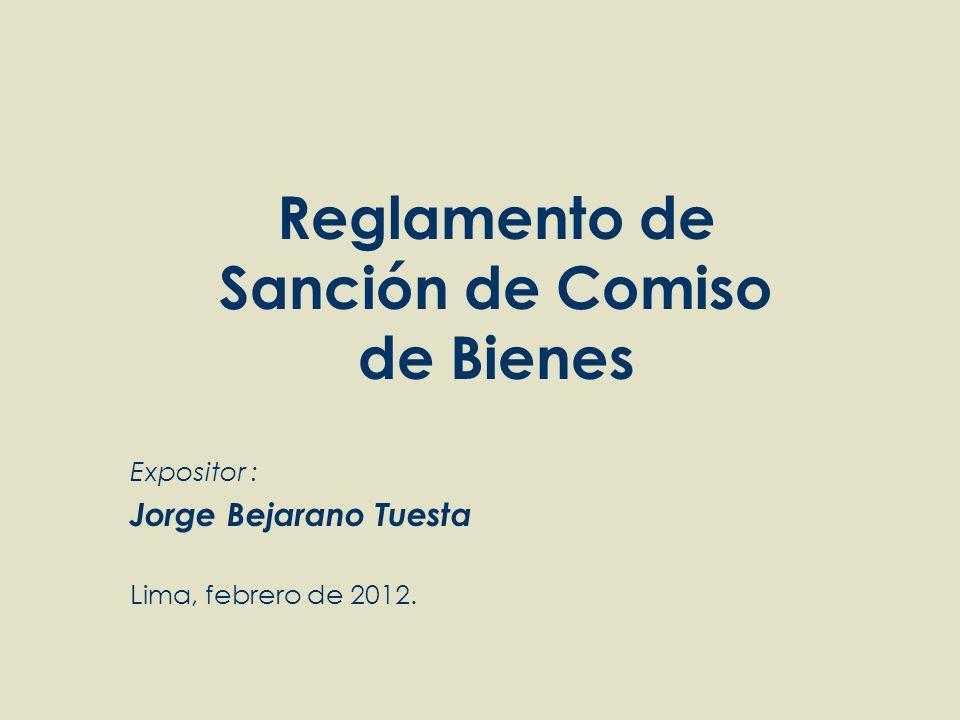 Expositor : Jorge Bejarano Tuesta Lima, febrero de 2012.
