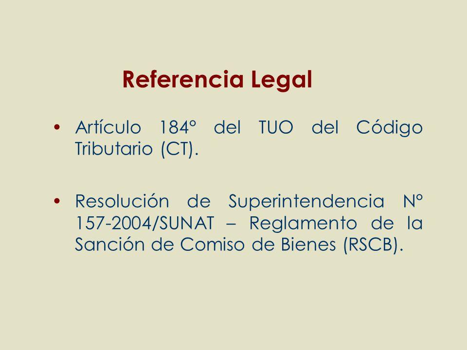 Referencia Legal Artículo 184° del TUO del Código Tributario (CT).