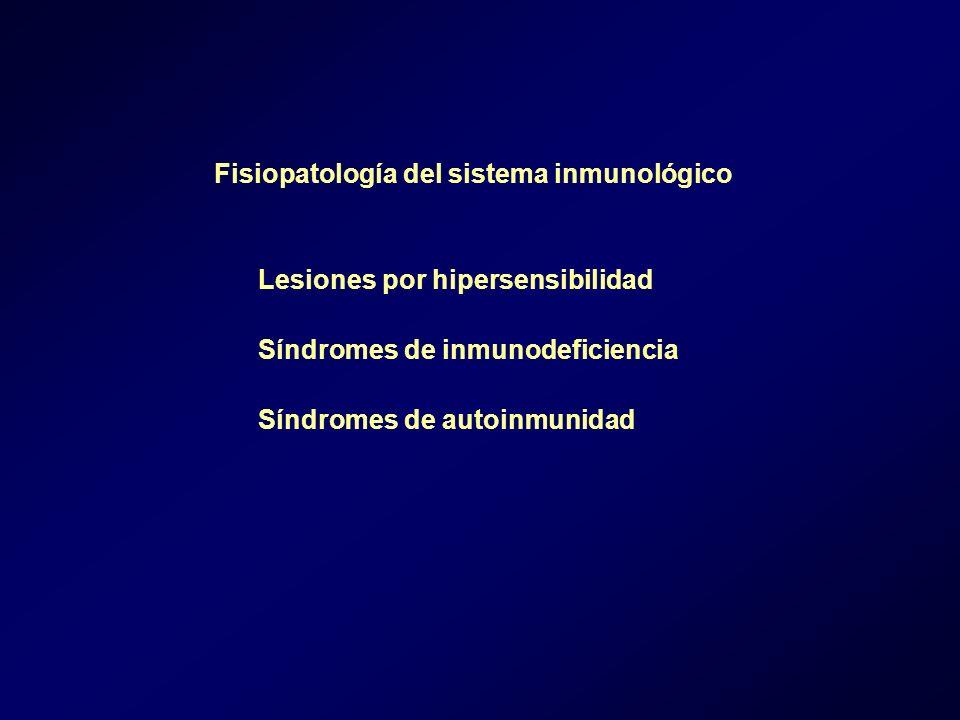 Fisiopatología del sistema inmunológico