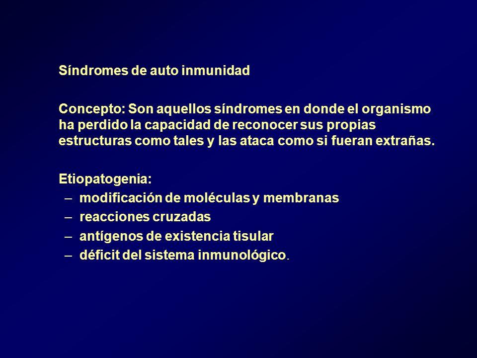 Síndromes de auto inmunidad