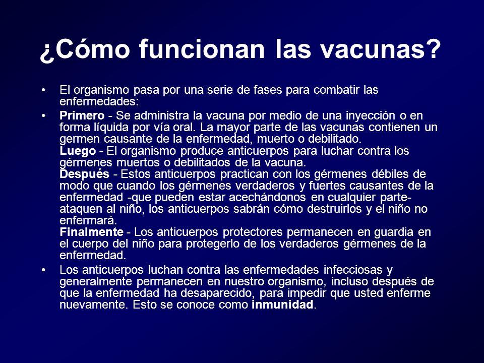 ¿Cómo funcionan las vacunas
