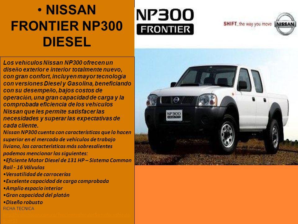 NISSAN FRONTIER NP300 DIESEL